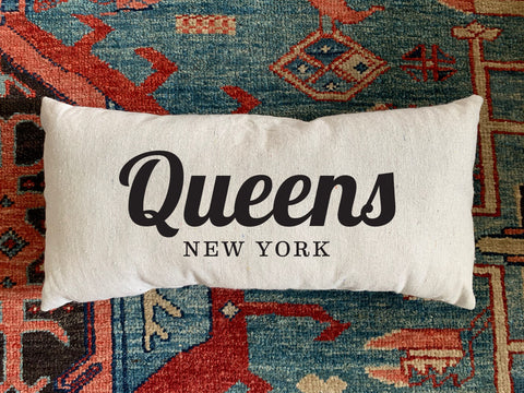 Queens, NY Handmade Canvas Pillow