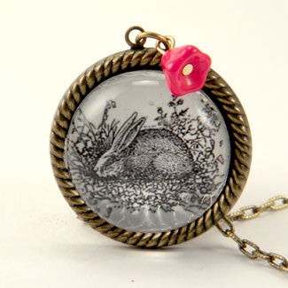 Down The Rabbit Hole Necklace  - Woodland Animal Jewelry