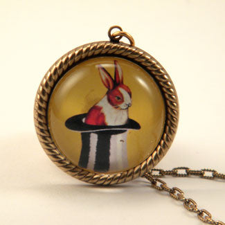 Rabbit Out of a Hat Petite Necklace  - Magician Wear Jewelry