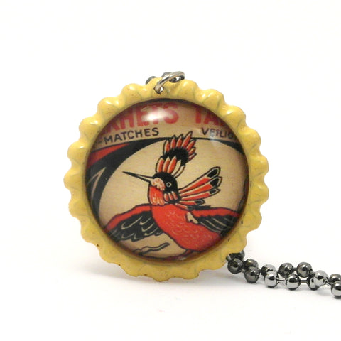 Red Bird - Matchbox Art Jewelry