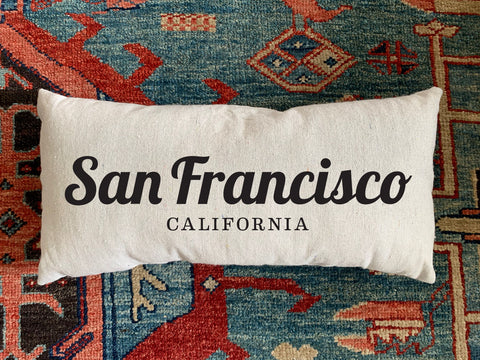 San Francisco, CA Handmade Canvas Pillow