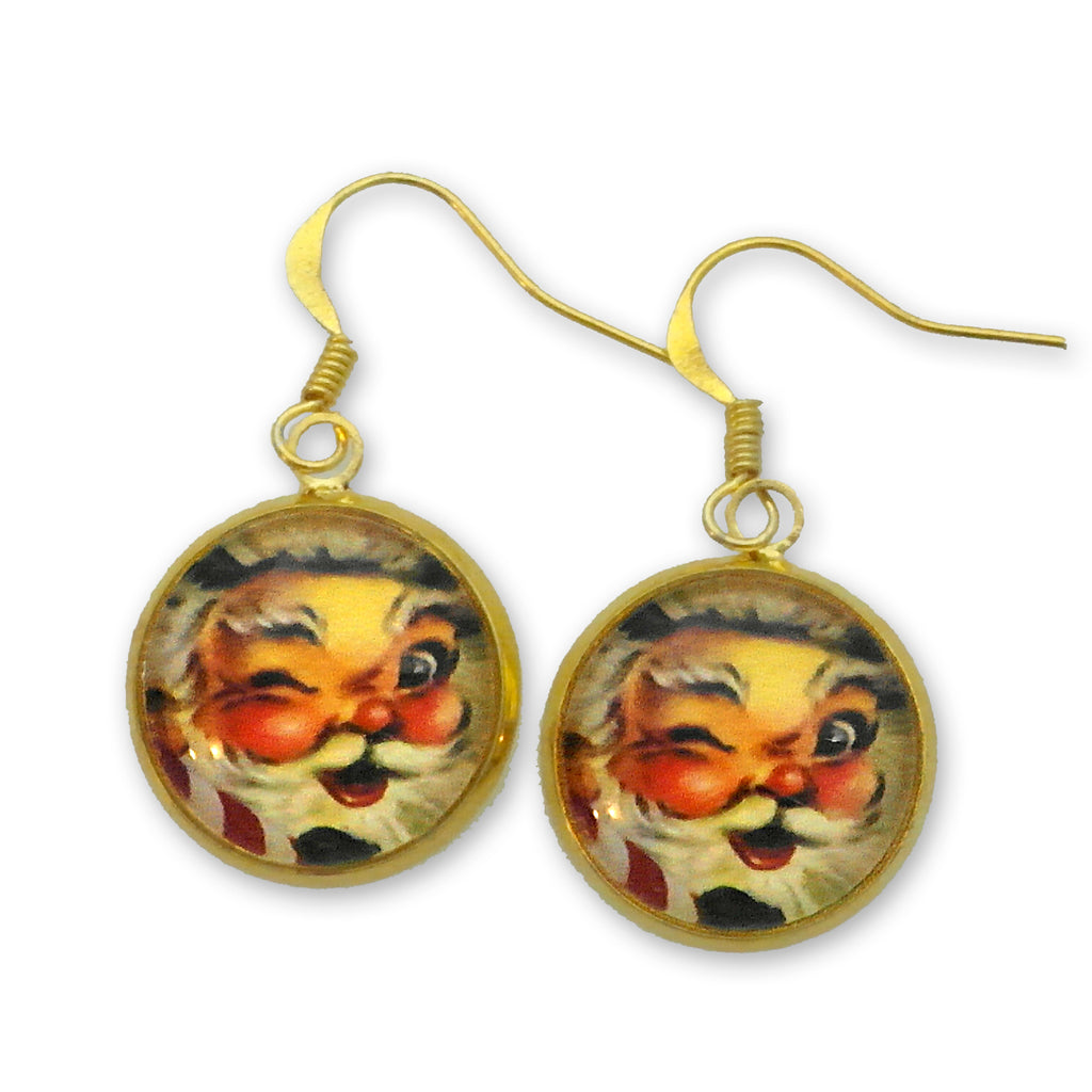Santa - Good Old St. Nick Holiday Earrings