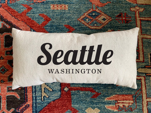 Seattle, WA Handmade Canvas Pillow