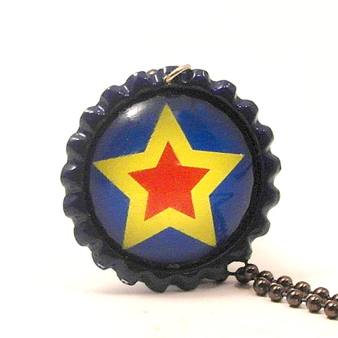 Your A Shining Star - Bottle Cap necklace