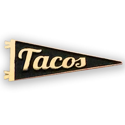 Tacos gold plated Enamel Pennant Pin
