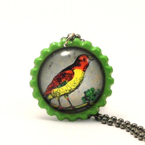 The Bird - El pájaro - Mexican Loteria Card Jewelry