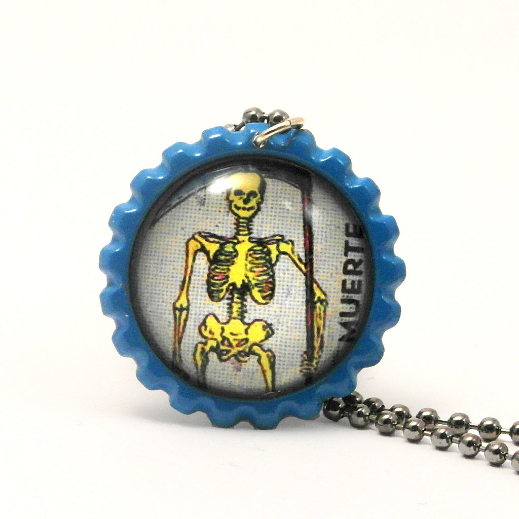 Death - La muerte - Mexican Loteria Card Jewelry