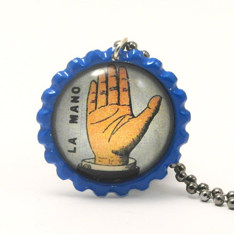 The Hand - La mano - Mexican Loteria Card Jewelry
