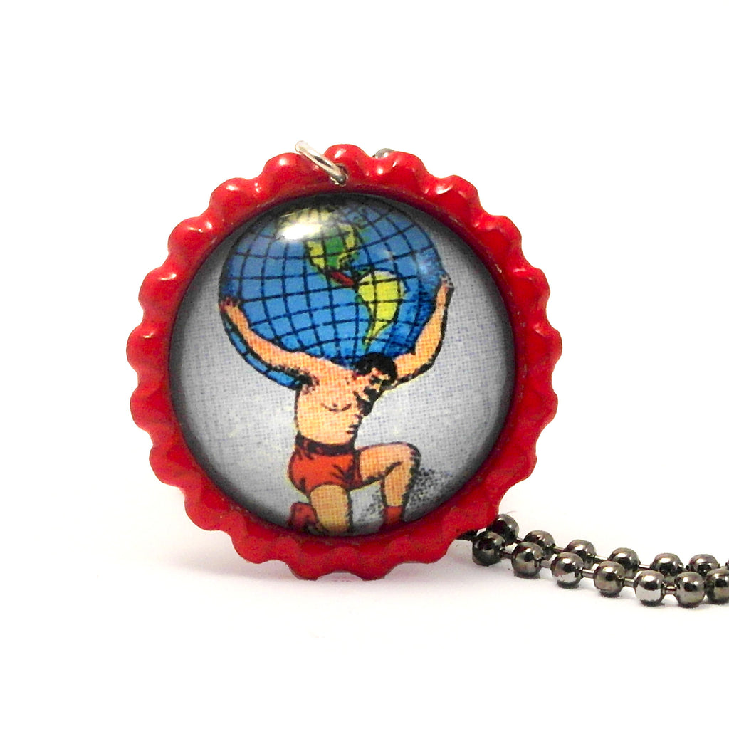 The World - El mundo - Mexican Loteria Card Jewelry