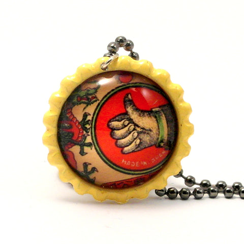 A O.K. Thumbs Up - Matchbox Art Jewelry