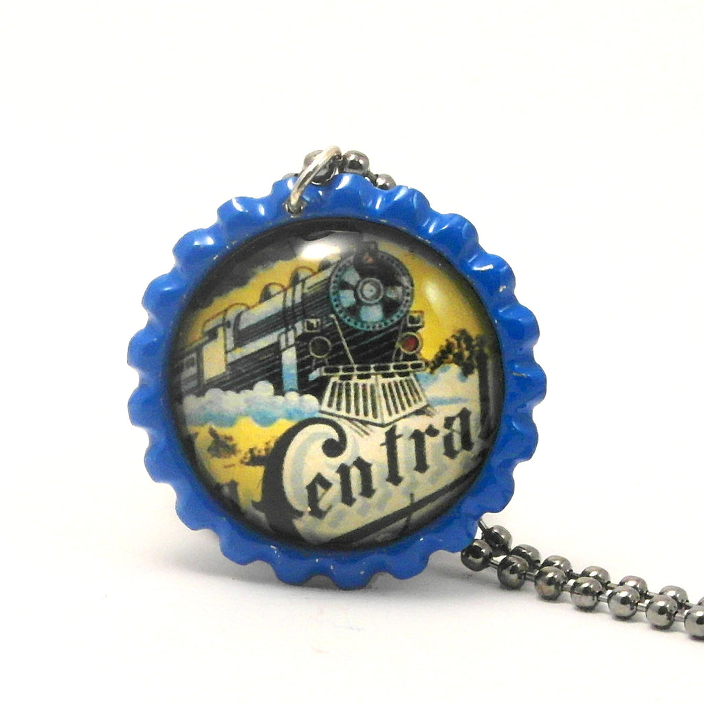 Train Engine Locomotive - Matchbox Art Jewelry