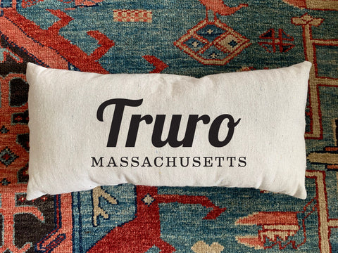 Truro, MA Handmade Canvas Pillow