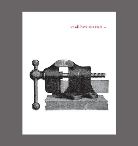 We All Have Our Vices- Special Relationship, Love Card, Sold In a 5 Pack