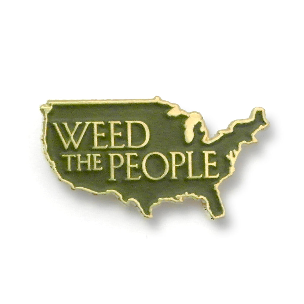 Weed The People - United States of America Enamel Pin