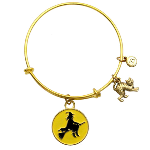 Flying Witch Enamel Charm Bracelet or Necklace