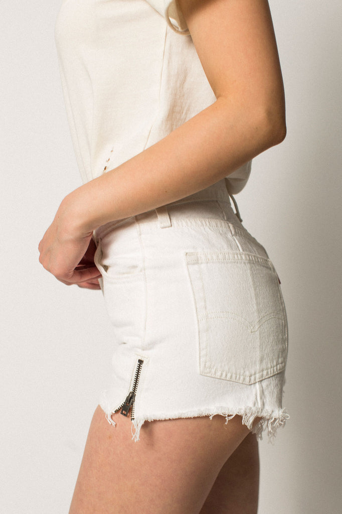 501 Altered Zip Shorts