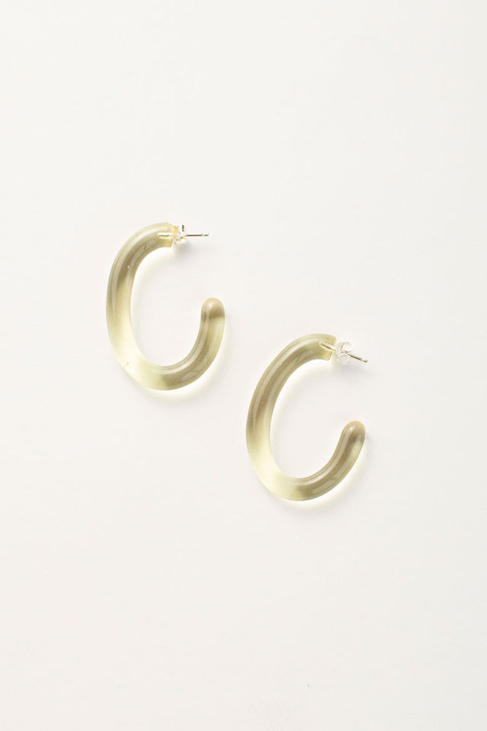 Large Glass Hoops - Yellow