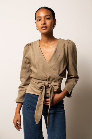 It's A Wrap Blouse - Onion