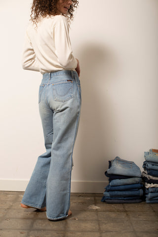Light Wash High-Rise Wide Leg Jeans
