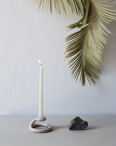 Uni Candlestick - Speckled White