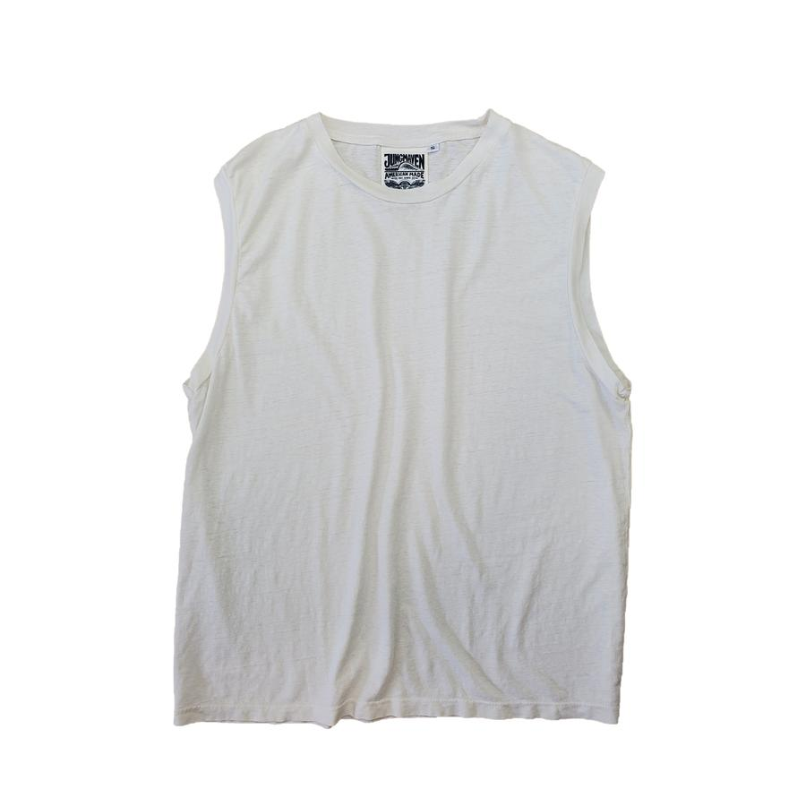 Malibu Muscle Tee - Washed White