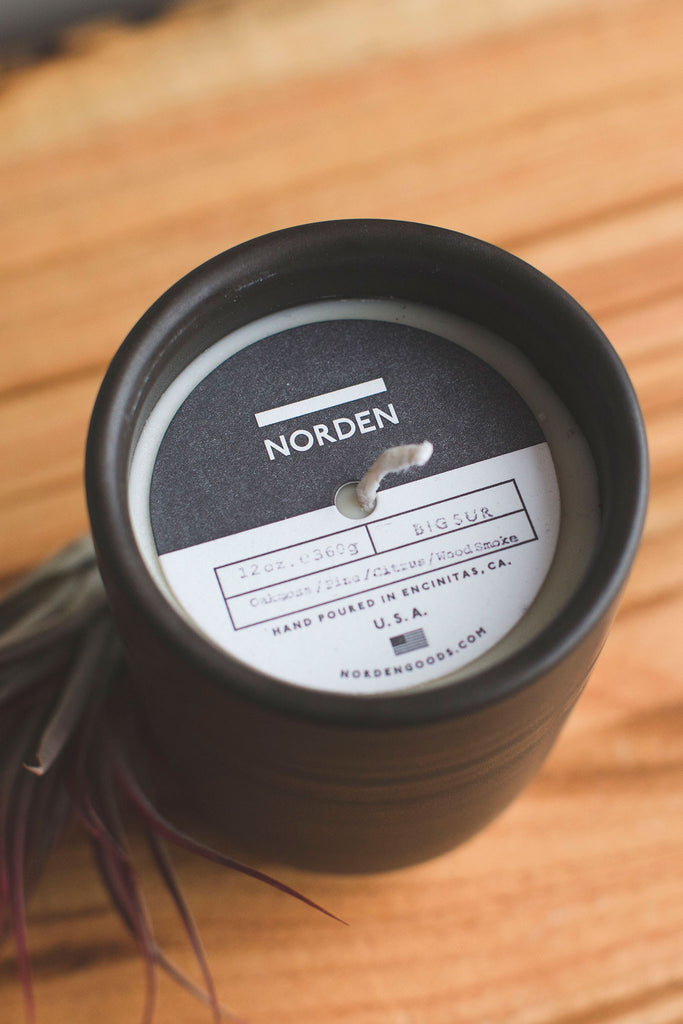 top label Norden bigsur ceramic candle