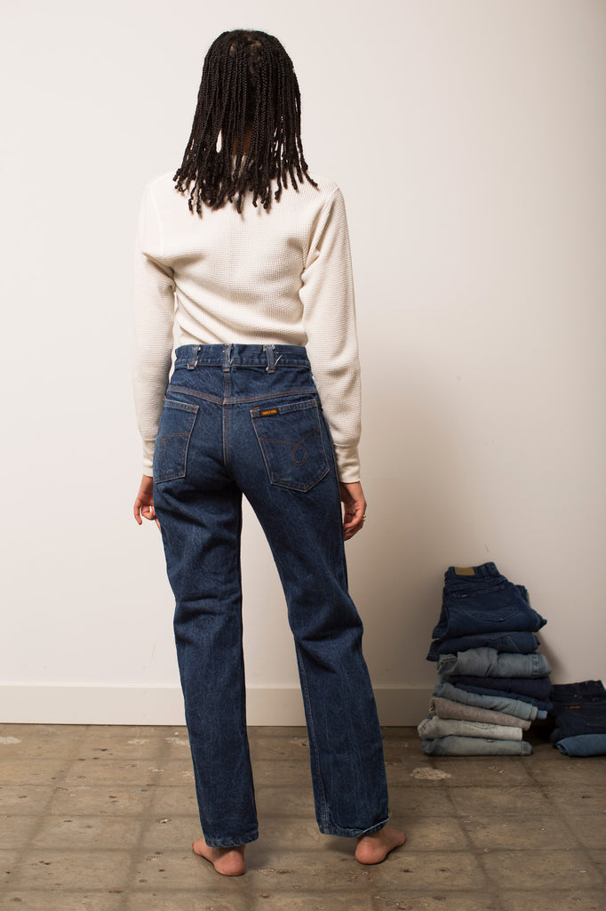 High-Rise Saddle King Jeans