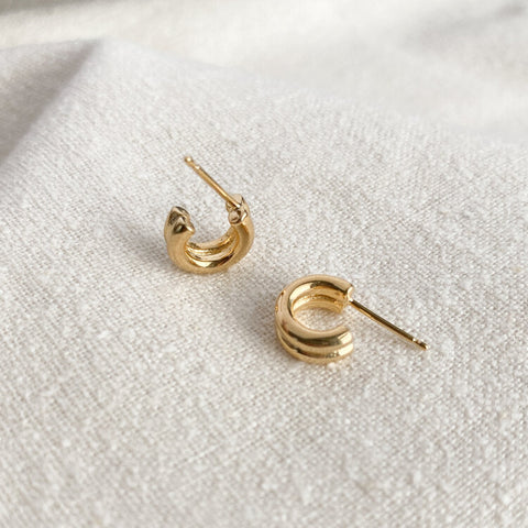 Double Lil Jane Hoops - Gold
