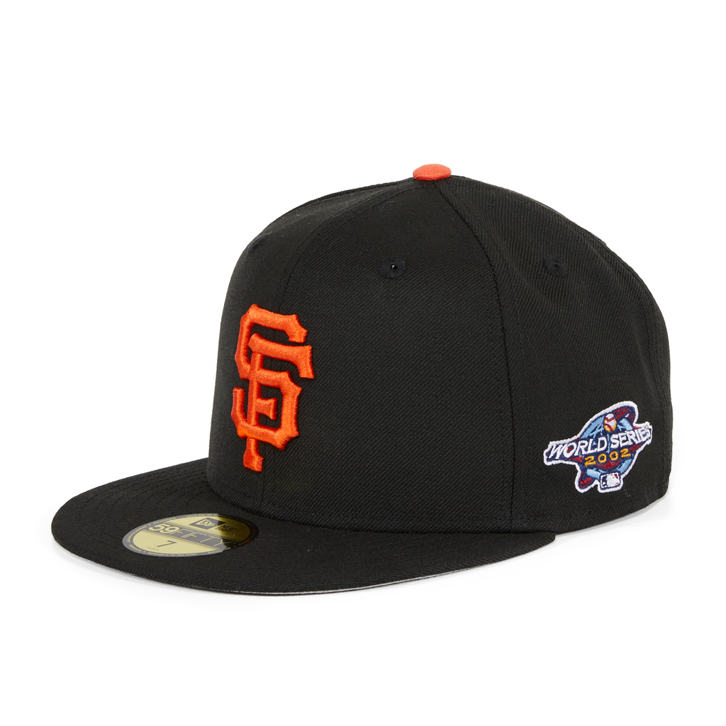 New Era 59Fifty San Francisco Giants 2002 World Series Hat - Black, Orange