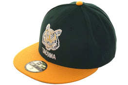 Exclusive New Era 59Fifty Tacoma Tigers Hat - 2T Green, Gold