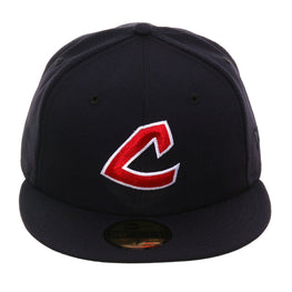 Exclusive New Era 59Fifty Cleveland Indians 1973 Hat - Navy