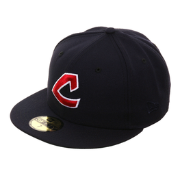 Exclusive New Era 59Fifty Cleveland Indians 1973 Hat - Navy, Red