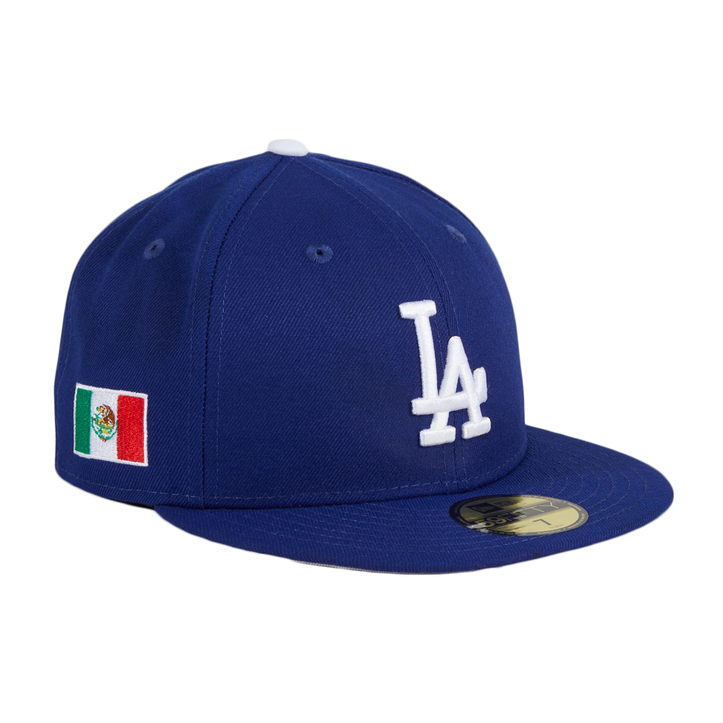Exclusive New Era 59Fifty Los Angeles Dodgers Mexico Flag Patch Hat - Royal