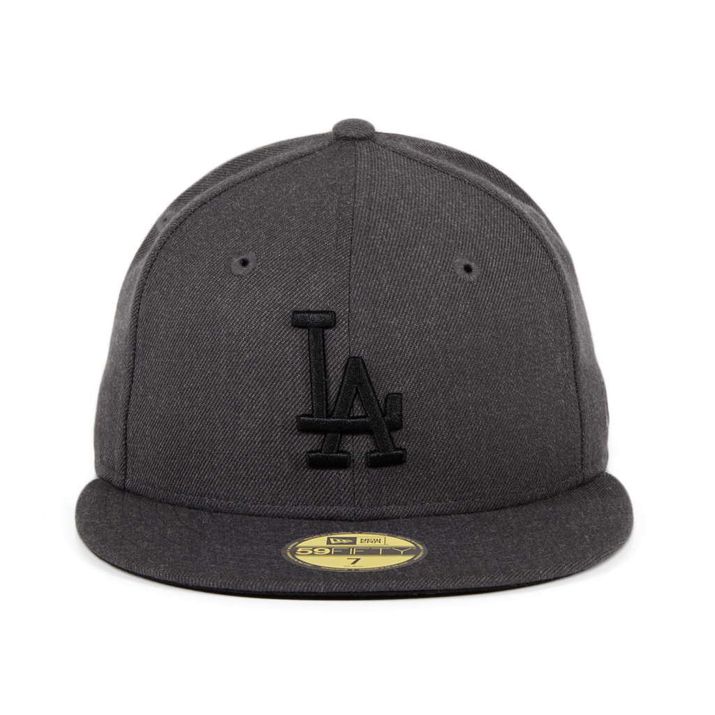 Exclusive New Era 59Fifty Los Angeles Dodgers Hat - Graphite, Black
