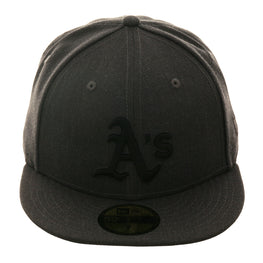 Exclusive New Era 59Fifty Oakland Athletics Hat - Graphite, Black
