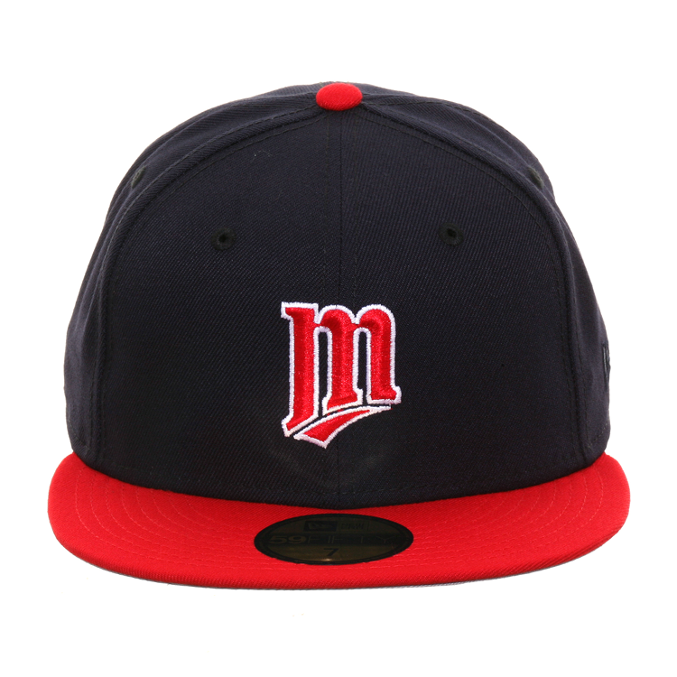 Exclusive New Era 59Fifty Minnesota Twins M Hat - 2T Navy, Red