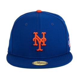 Exclusive New Era 59Fifty New York Mets 1986 World Series Patch Hat - Royal
