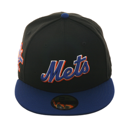 Exclusive New Era 59Fifty New York Mets Script 25th Anniversary Patch Hat - 2T Black, Royal