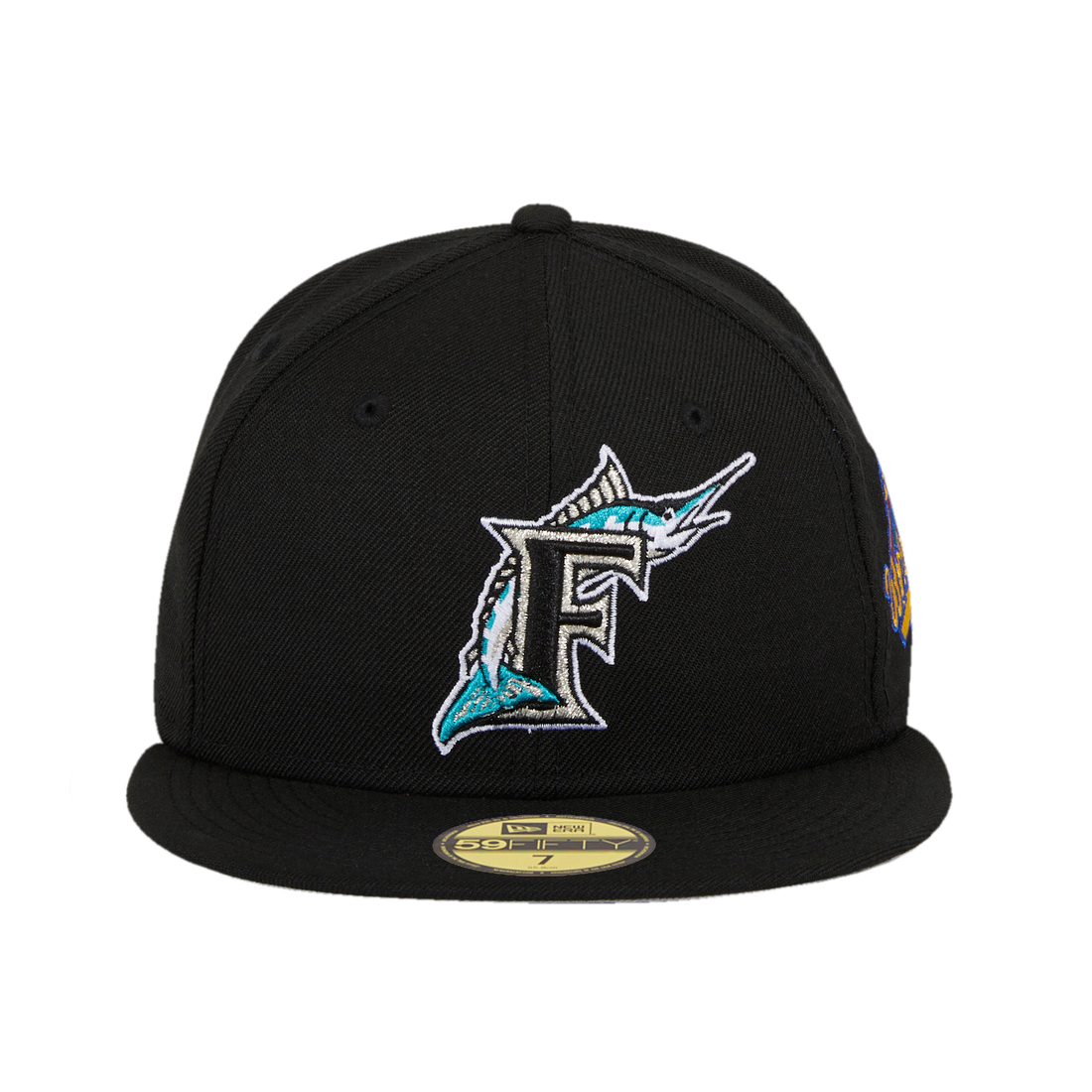 New Era 59Fifty Florida Marlins 1997 World Series Patch Hat - Black