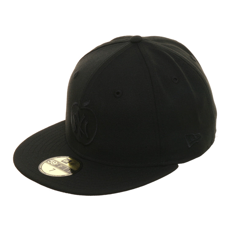 Exclusive New Era 59Fifty New York Yankees Apple Hat - Black, Black, Black