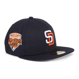 Exclusive New Era 59Fifty San Diego Padres 1992 All Star Game Patch Hat - Navy