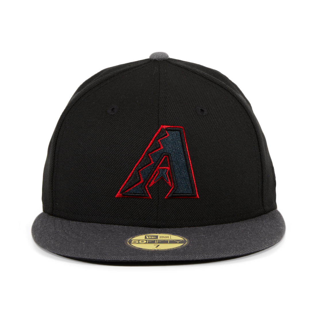 New Era 59Fifty Arizona Diamondbacks Fitted Hat - 2T Black, Graphite Heather, Red