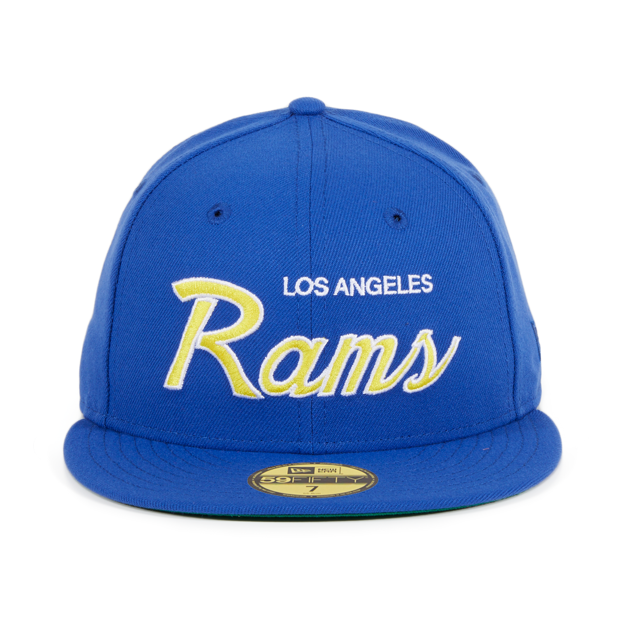 b22be1daa79 Exclusive New Era 59Fifty Los Angeles Rams Script Hat - Royal