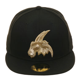 New Era 59Fifty Thrill SF Potrero Hills Goats Fitted Hat - Black, Metallic Gold
