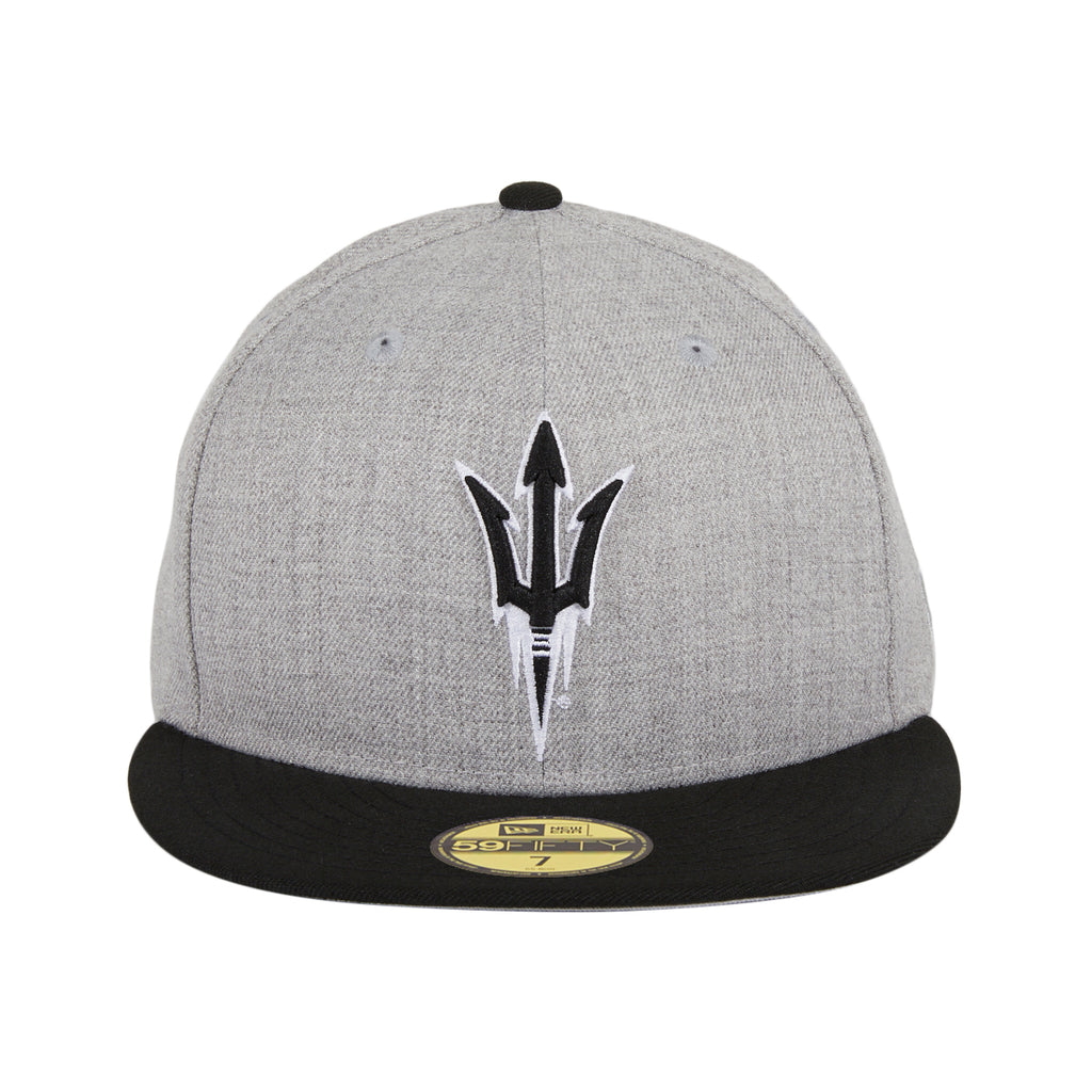 New Era 59Ffity Arizona State Sun Devils Fork Hat - Heather Gray, Black