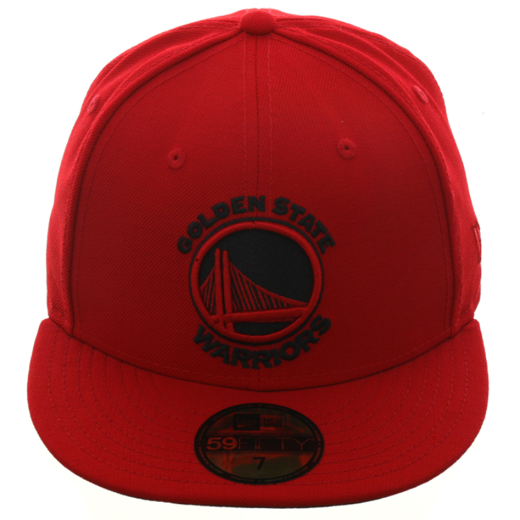Exclusive New Era 59Fifty Golden State Warriors Hat - Red, Black