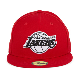 Exclusive New Era 59Fifty Los Angeles Lakers Hat - Red