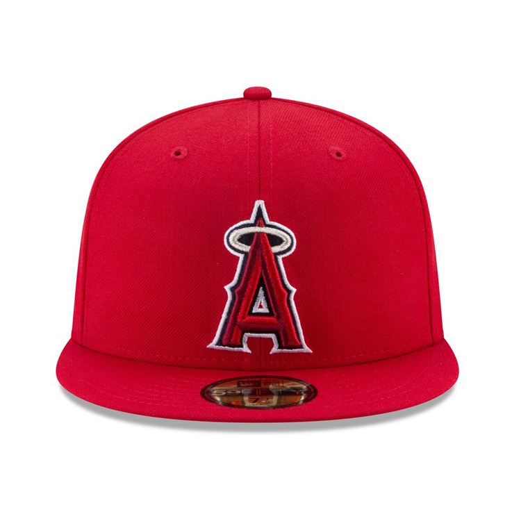 New Era 59Fifty Authentic Collection Los Angeles Angels On-Field Game Hat - Red