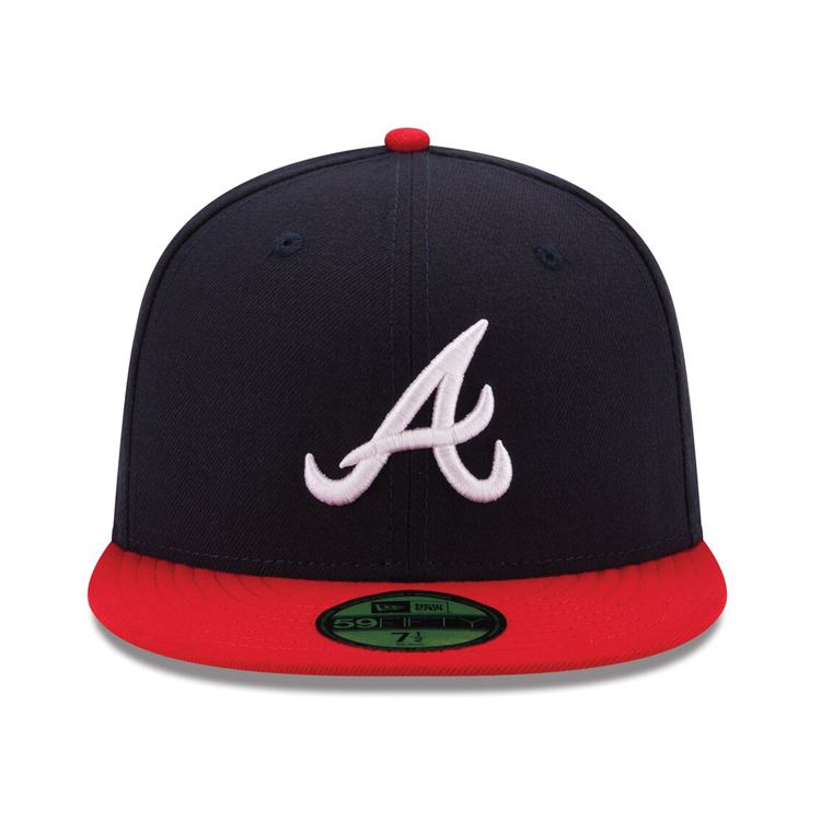 New Era 59Fifty Authentic Collection Atlanta Braves On-Field Home Hat - Navy, Red