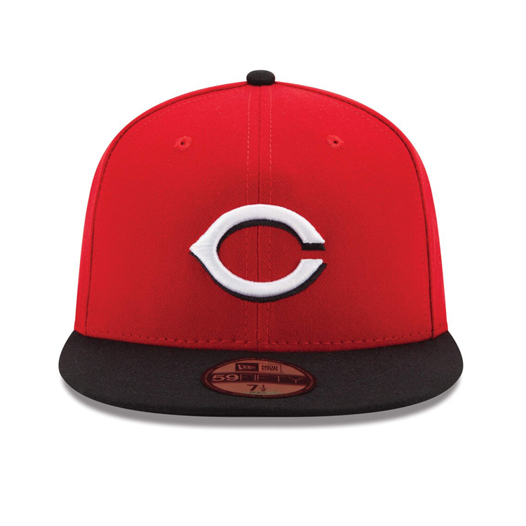 New Era 59Fifty Authentic Collection Cincinnati Reds On-Field Road Hat - Red, Black